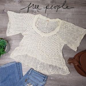 Free People XS wool mohair knitted shirt